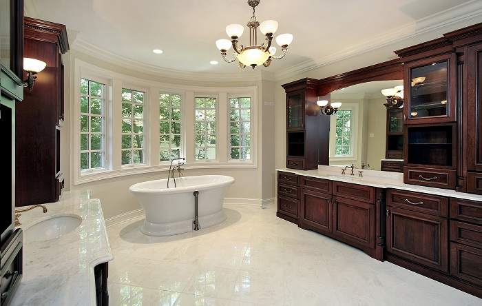 Modern Bathroom Marble Flooring