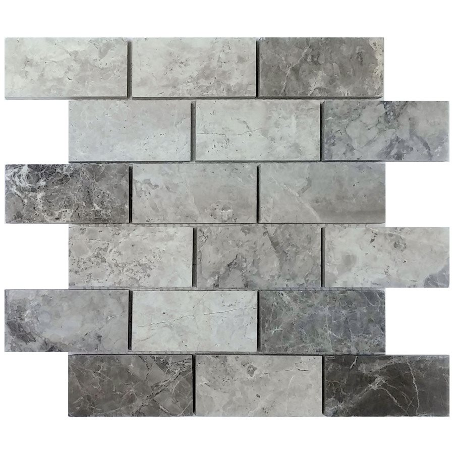 - Gray Valensa Marble Subway Tile 2x4 Backsplash TileMarkets®
