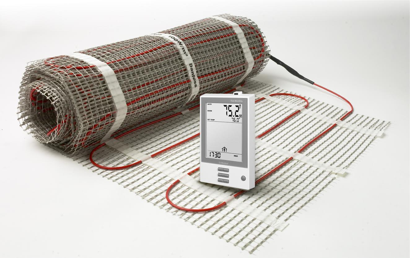 Underfloor Heating - 20 sq ft 120V kit - Danfoss