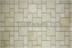Travertine Mosaic Ivory Roman Pattern