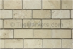 Travertine Subway Tile Ivory 2x4 Tumbled
