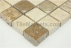 Travertine Mosaic Backsplash Coco 1x1