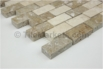 Travertine Mosaic Backsplash Coco 1x2