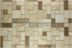 Travertine Mosaic Backsplash Coco Roman Pattern