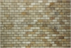 Travertine Mosaic Scabos 1x2 Tumbled