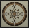 Beige & Brown Porcelain Floor Medallions